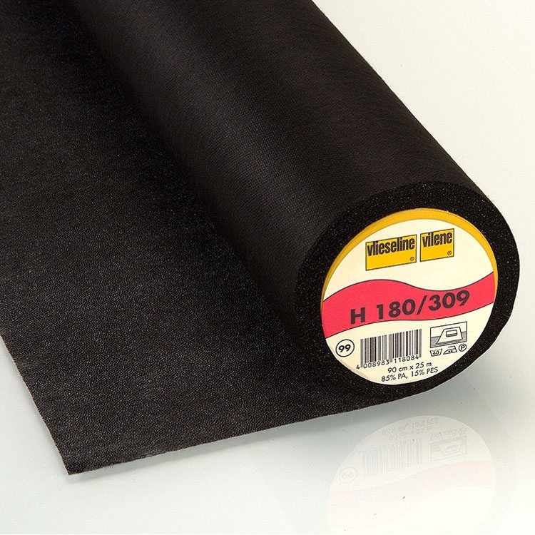 Vlieseline fusible interfacing H180 black | H180SCHWARZ | schwarz