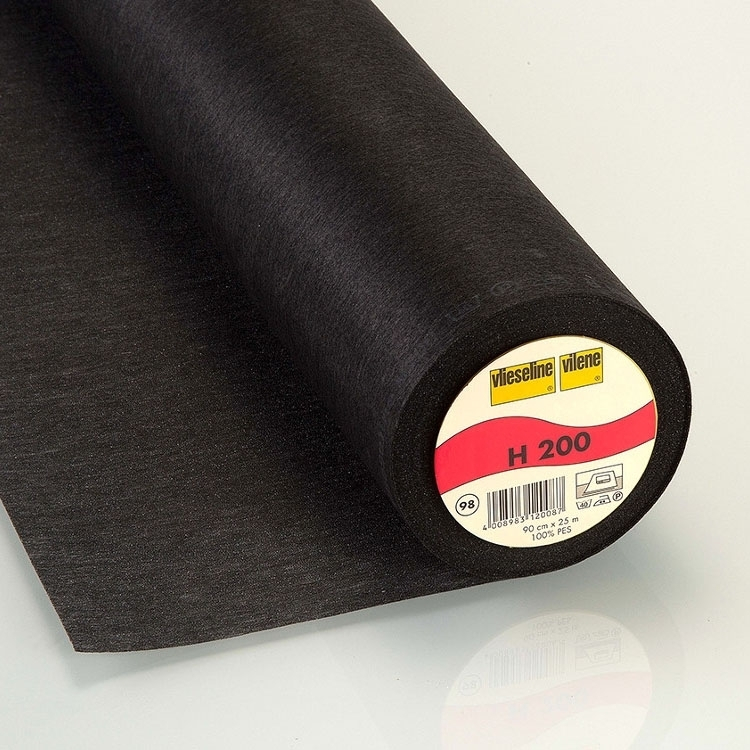 Vlieseline fusible interfacing H200 black | H200SCHWARZ | schwarz