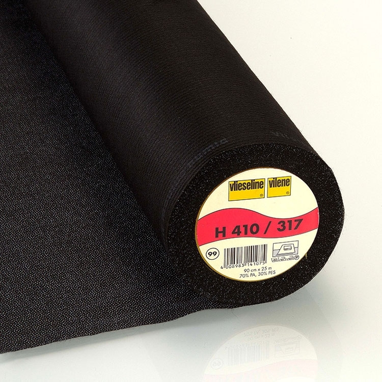 Vlieseline fusible interfacing H410, black | H410SCHWARZ | schwarz