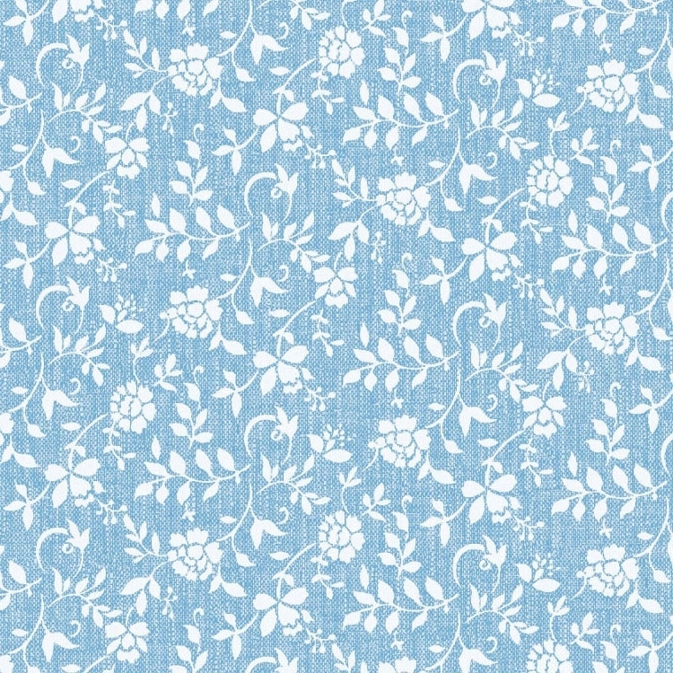 Oilcloth White Flowers