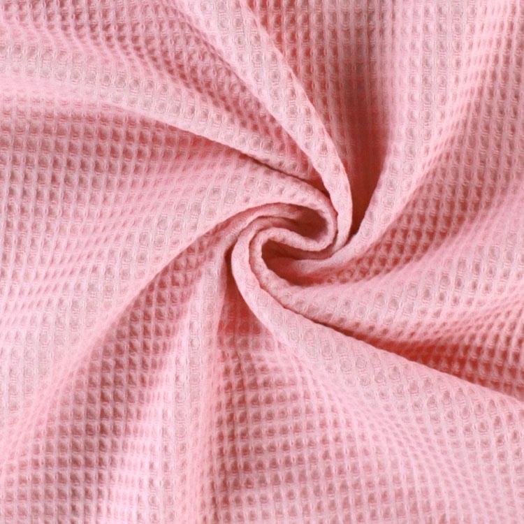 Waffelpiqué aus Baumwolle in Rosa