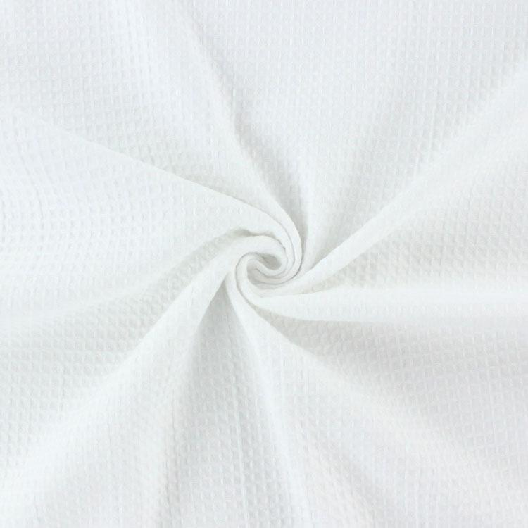 Weißes Waffelpiqué aus Baumwolle