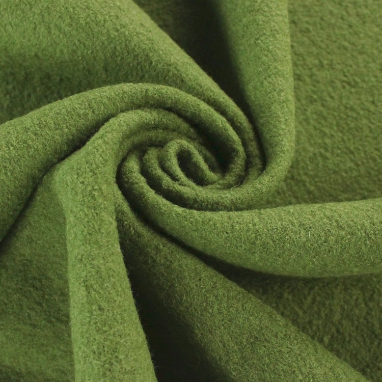 Fulled loden pastel green