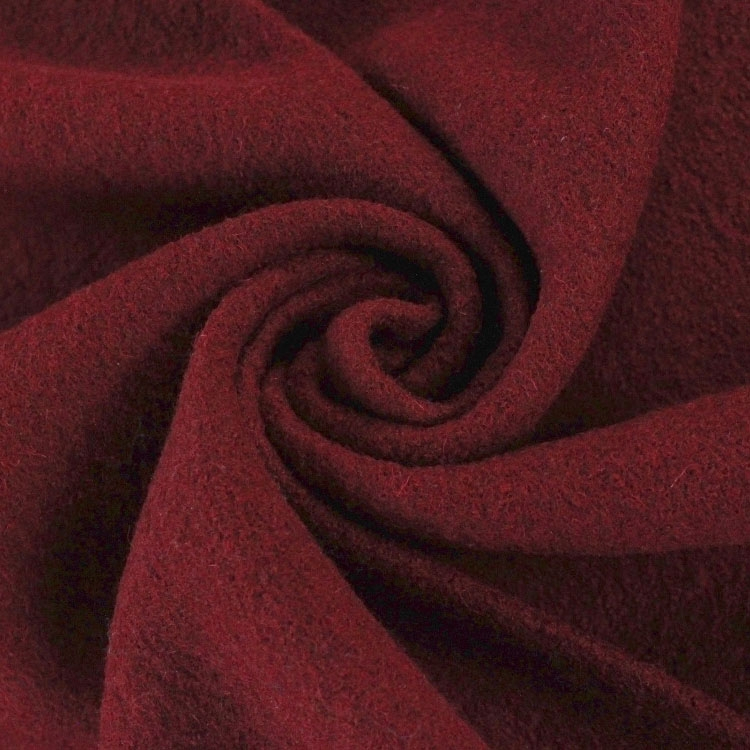 Fulled loden wine red