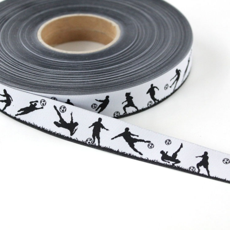 Woven ribbon soccer player