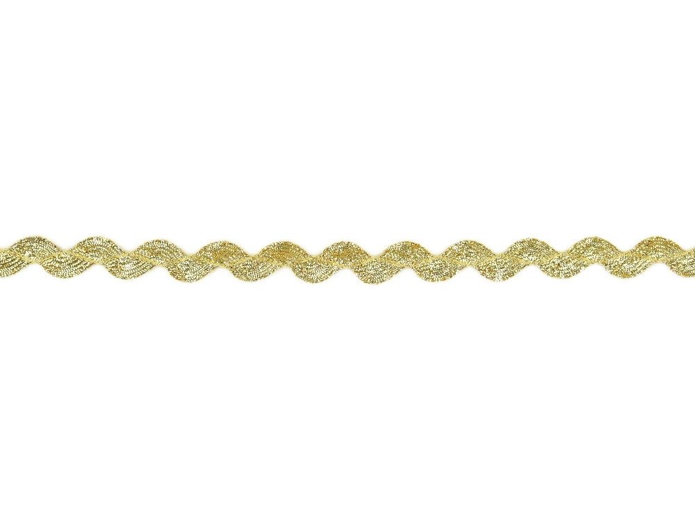 Rickrack Lurex, gold
