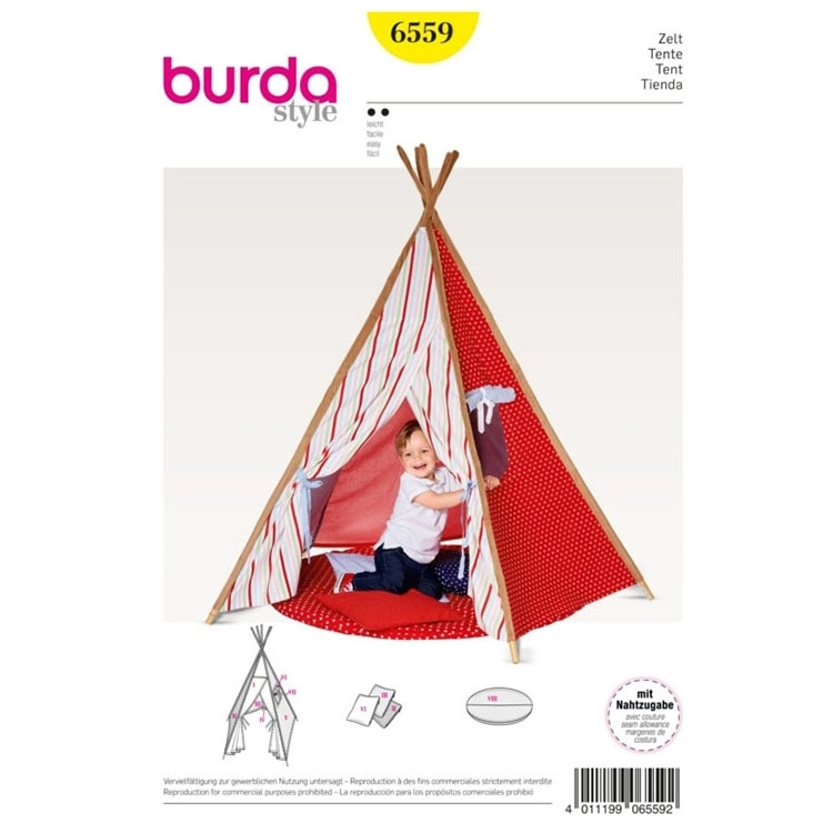 Tent , Indian Tipi , Tipi , Cushions, Burda 6559