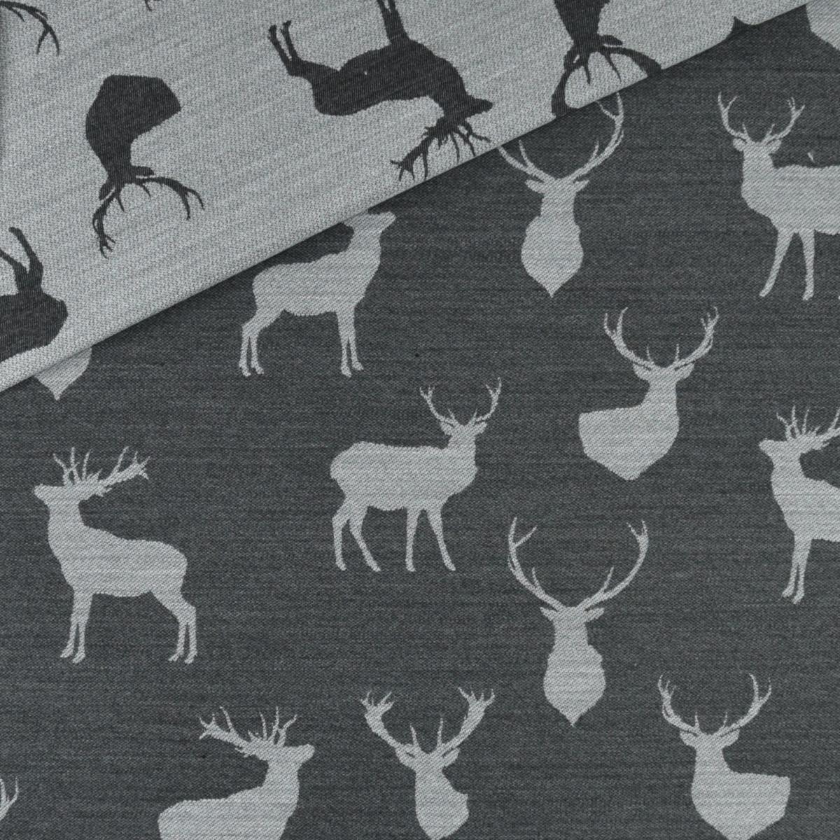 Jacquardstoff mit Hirschmotiven