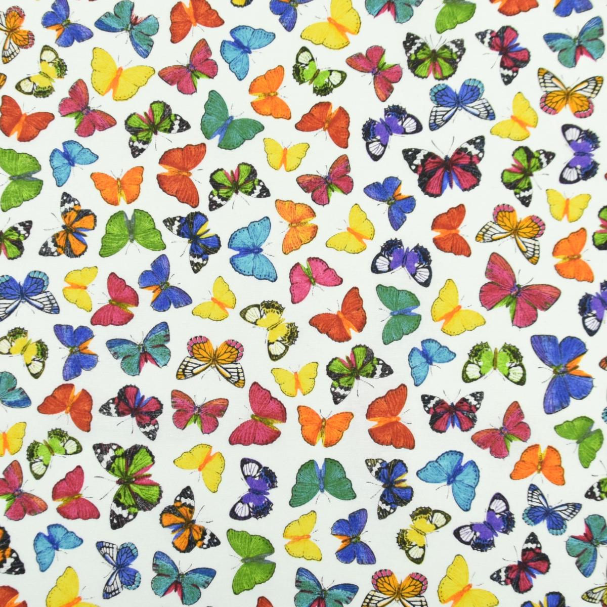 Dekostoff mit Schmetterlingen