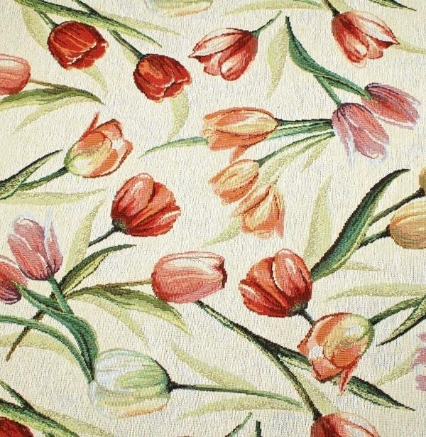 Edler Gobelinstoff mit Tulpen