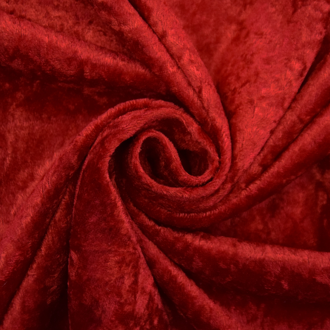 Roter Samtstoff für die Weihnachtszeit