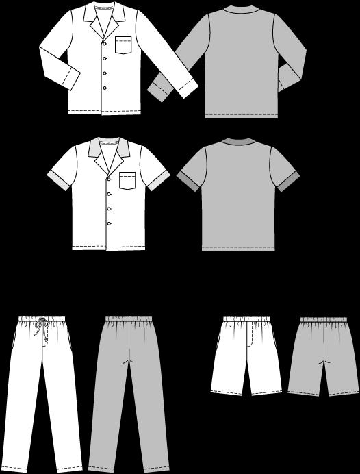 Kostenlos herren pyjama schnittmuster Pyjama