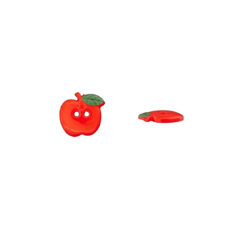 Apfel als 2-Lochknopf