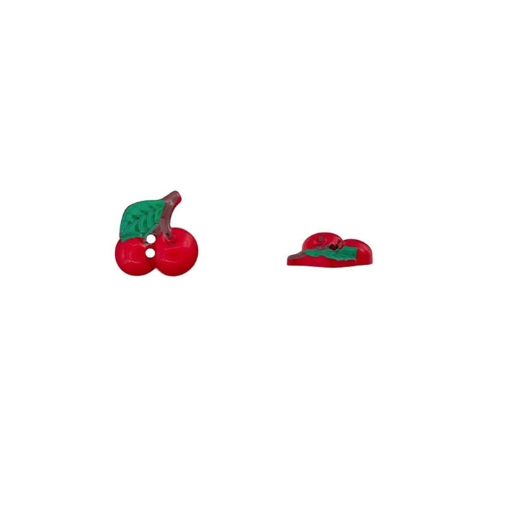 Kirschen als 2-Lochknopf