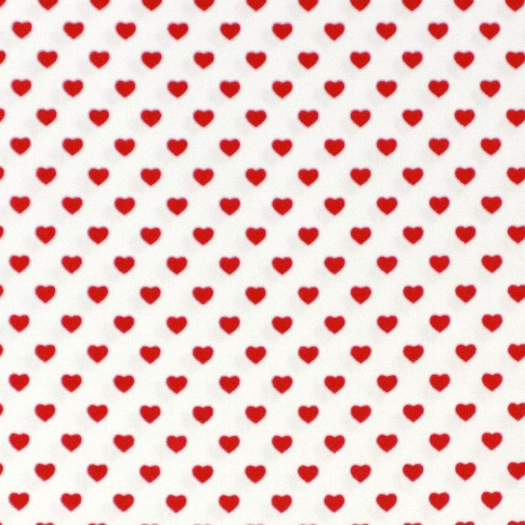 Baumwoll Popeline kleine Herzen, weiss | Stoffe Hemmers