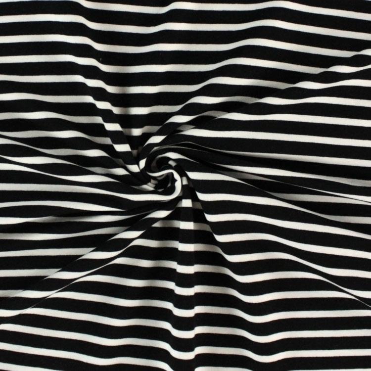 e1e5cb4b04 Stretch cotton French Terry irregular stripes