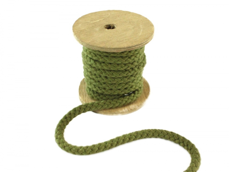 Organic Natural Cotton 10 mm Drawstring Piping cotton cord Baumwollkordel