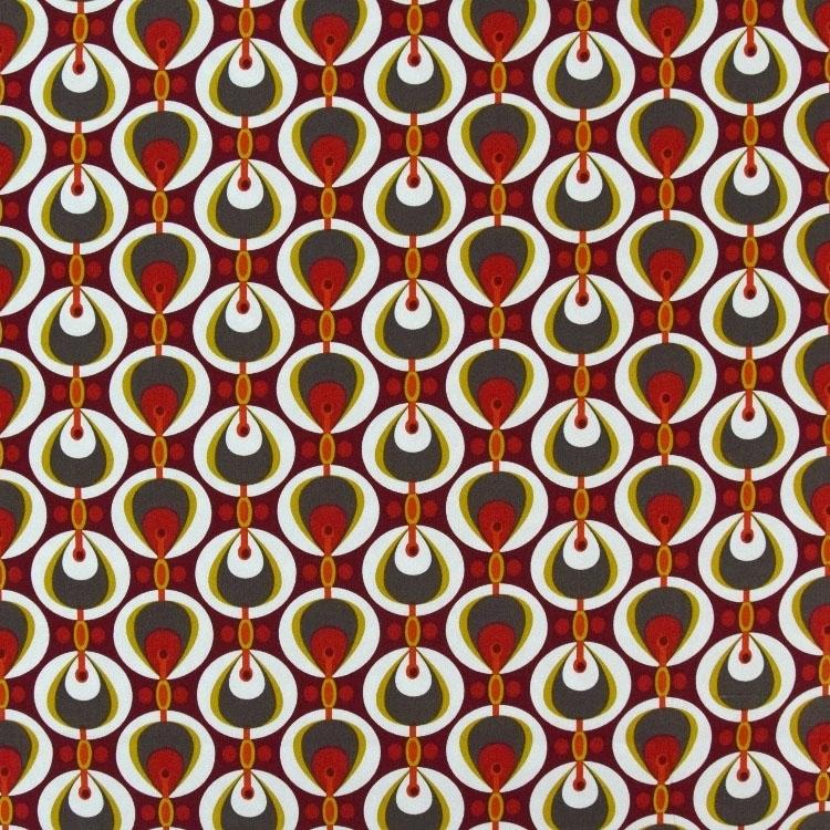 Fonkelnieuw Katoen satin retro drops, rood   Stoffen Hemmers UN-96