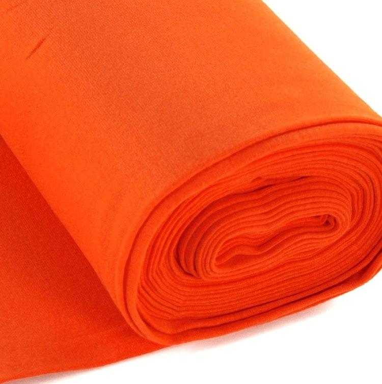 Bündchen Stoff glatt orange