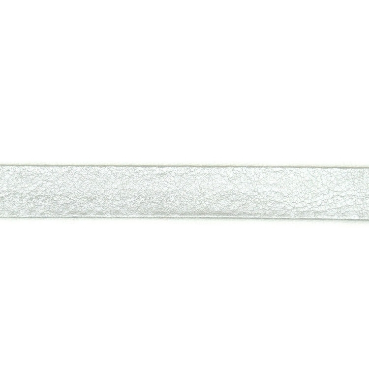 Edge Binding Faux Leather, Silver