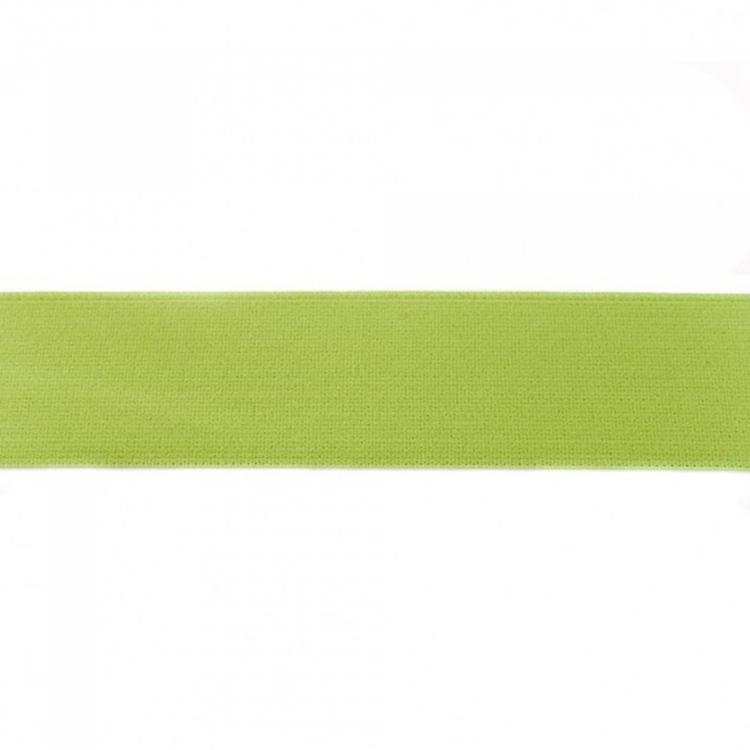 Elastic ribbon plain, 4 cm, light green