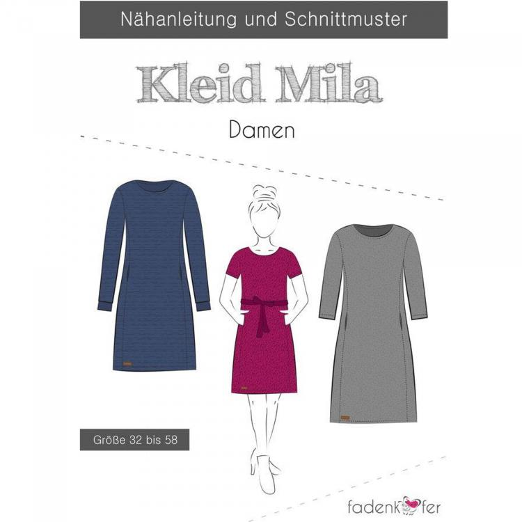 Fadenkäfer Mila Kleid Damen Papierschnittmuster | Stoffe Hemmers