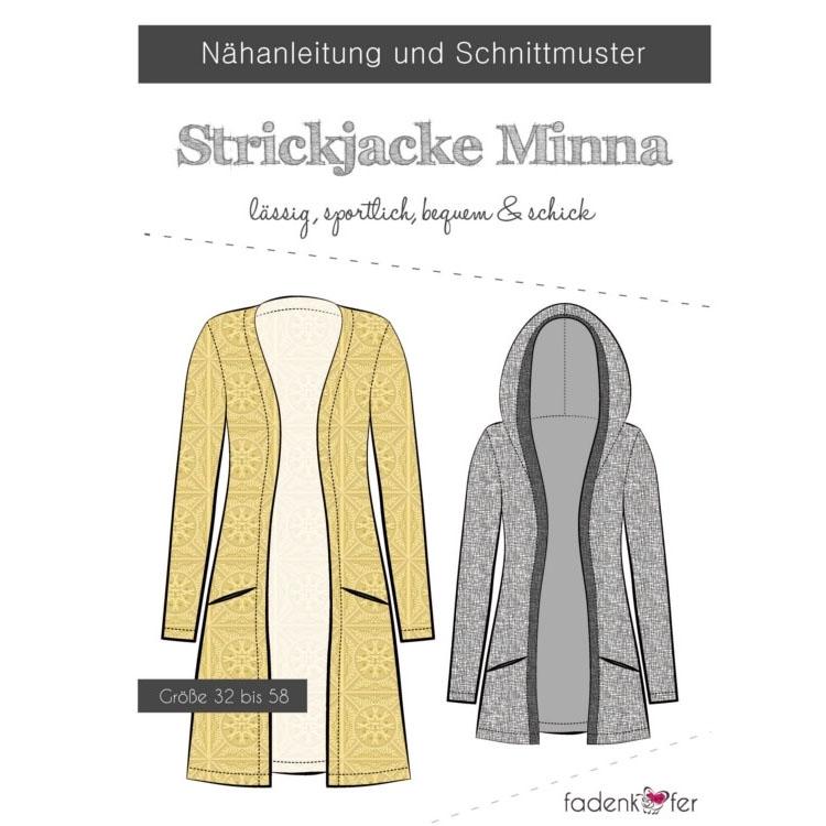 Fadenkäfer Minna Strickjacke Damen Papierschnittmuster | Stoffe Hemmers
