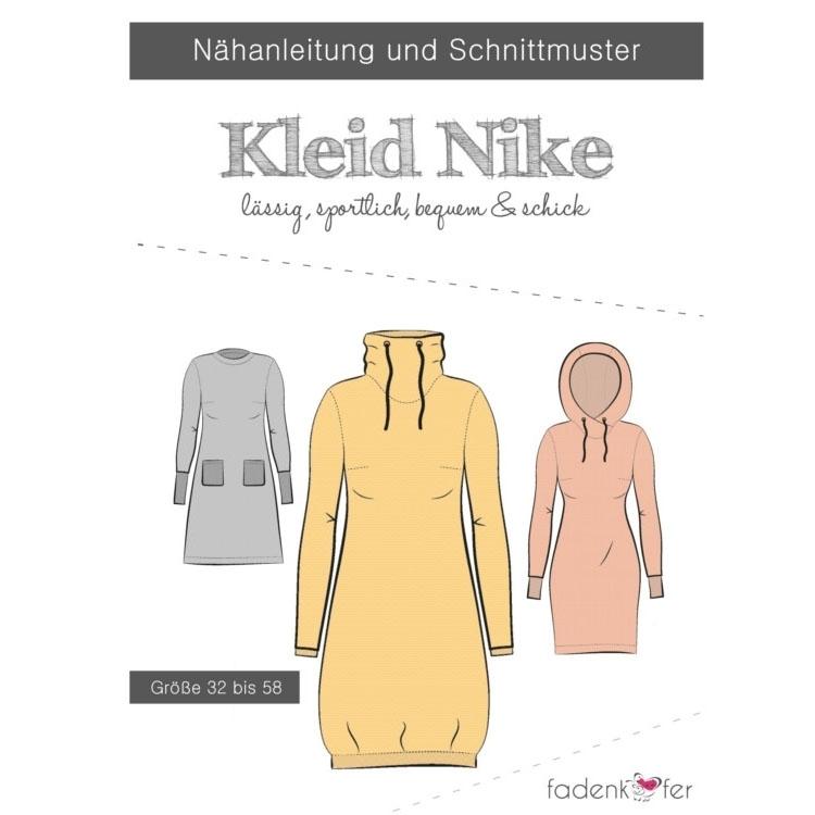 Fadenkäfer Nike Kleid Damen Papierschnittmuster | Stoffe Hemmers