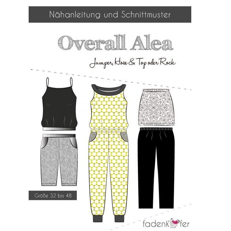 Fadenkäfer Overall Alea Damen Papierschnittmuster | Stoffe Hemmers
