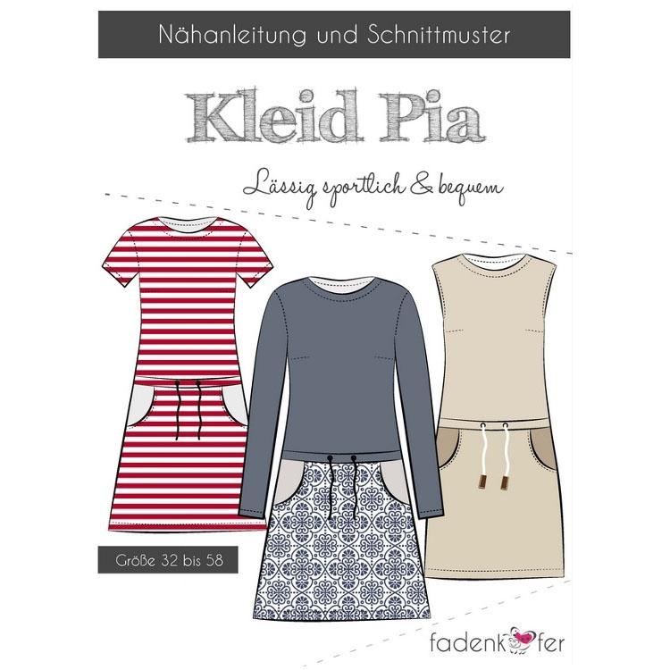 Fadenkäfer Pia Kleid Damen Papierschnittmuster | Stoffe Hemmers