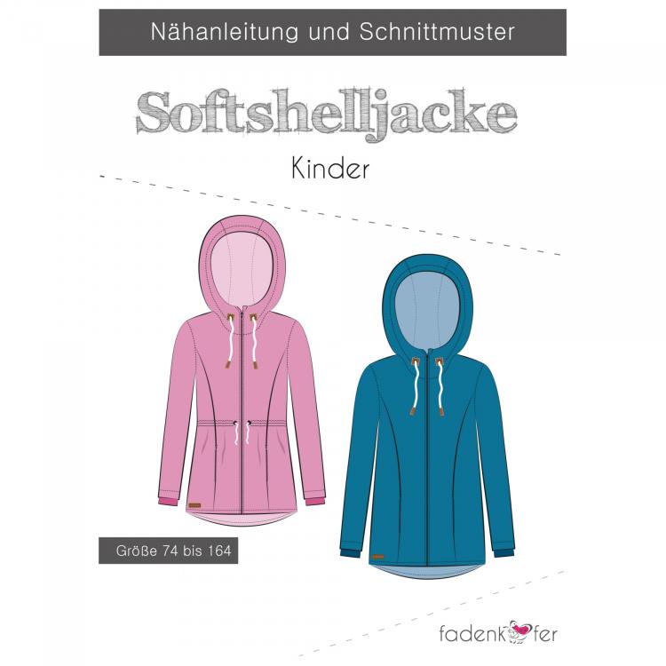 Fadenkäfer softshell jacket kinderen papieren patroon | Stoffen Hemmers