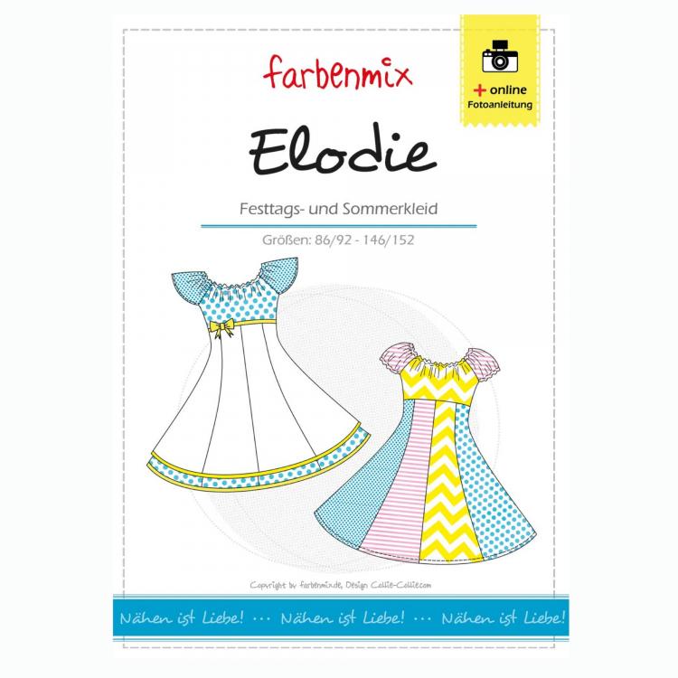 Farbenmix Elodie Festkleid, Papierschnittmuster | Stoffe Hemmers