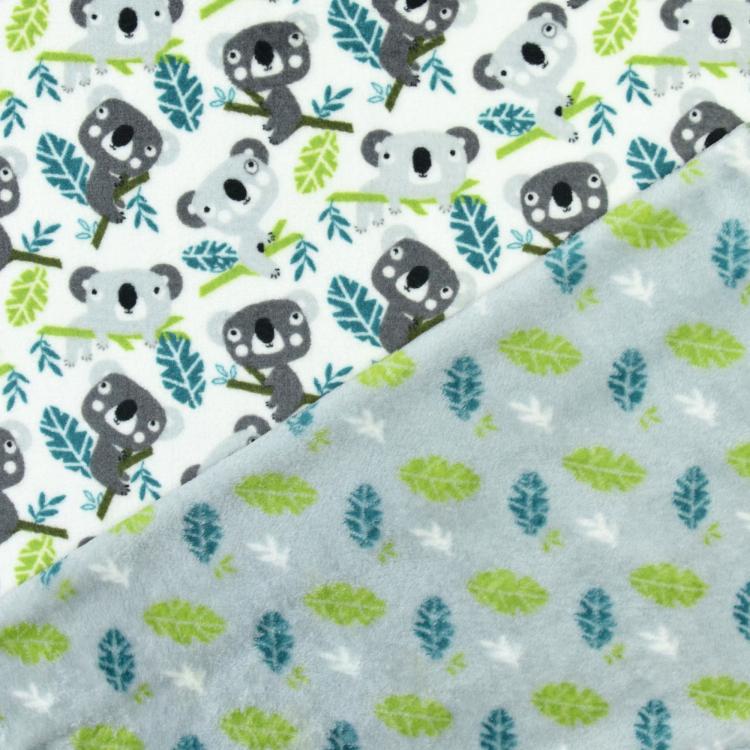 Flannel Fleece Doubleface Koala, lichtgrijs | Stoffen Hemmers