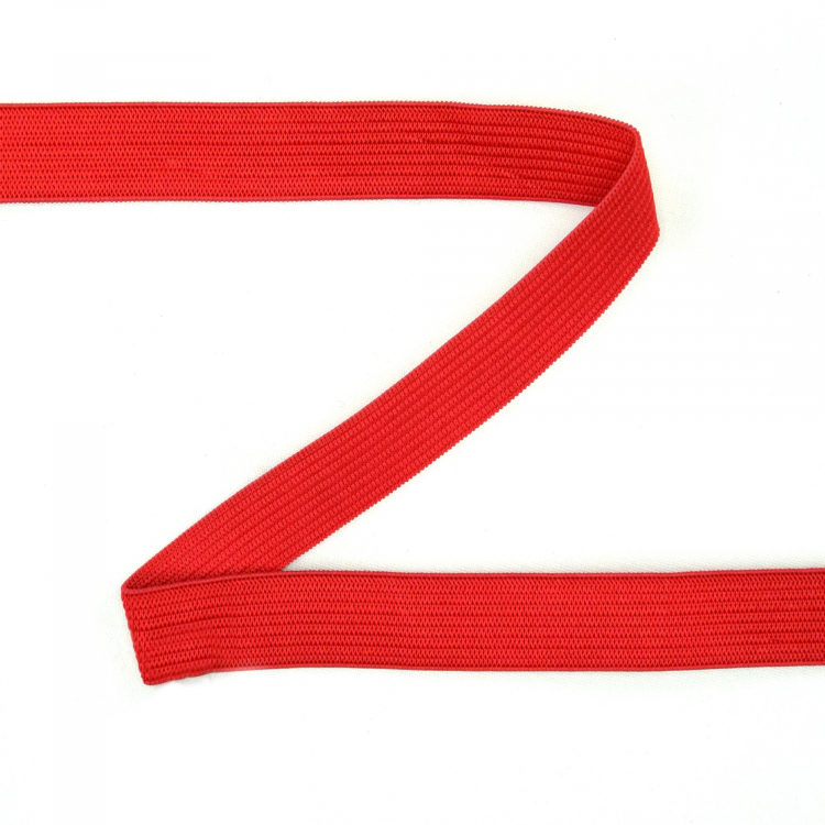 Elastic ribbon Colour Line, 15 mm, red