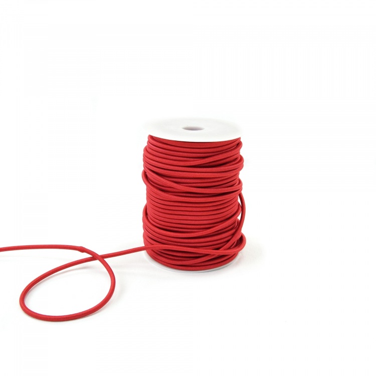 Cordon élastique brilliant, red | Tissus Hemmers
