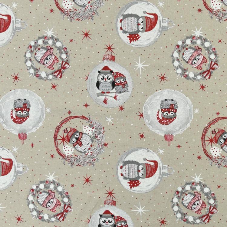 Fabulous Fabrics Halbpanama Natur Meterware erh/ältlich ab 0,5 m Weihnachten Tischdecken und Vorh/ängen 140/cm breit Halbpanama zum N/ähen von Kissen