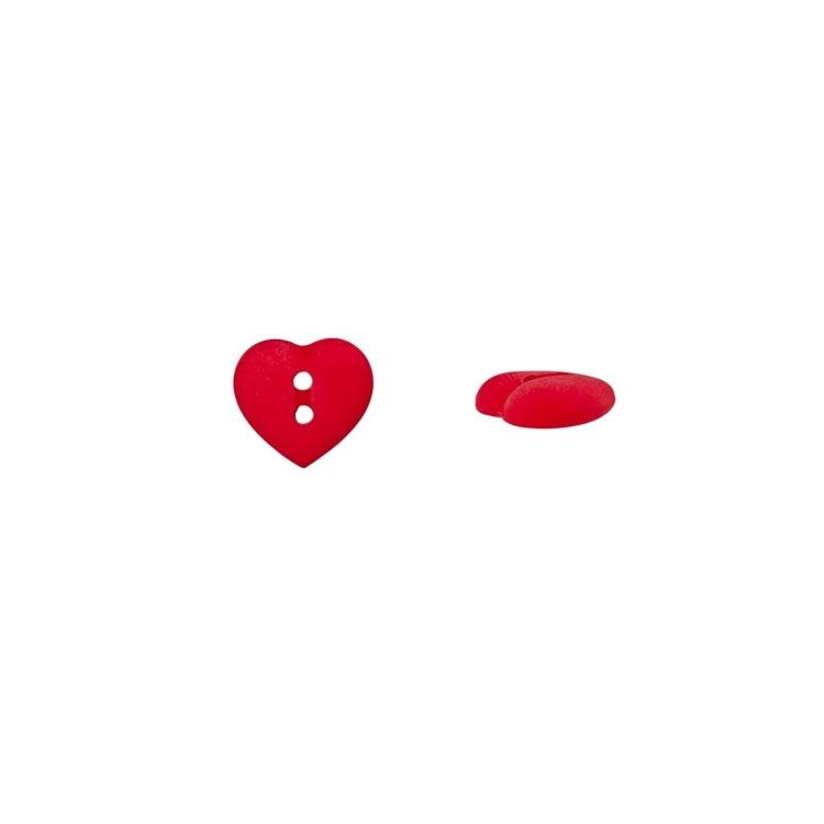 Roter Herzchenknopf