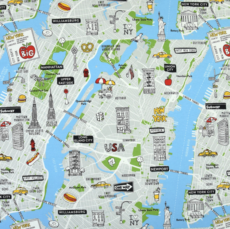 Ottoman New York City Map | Stoffe Hemmers on