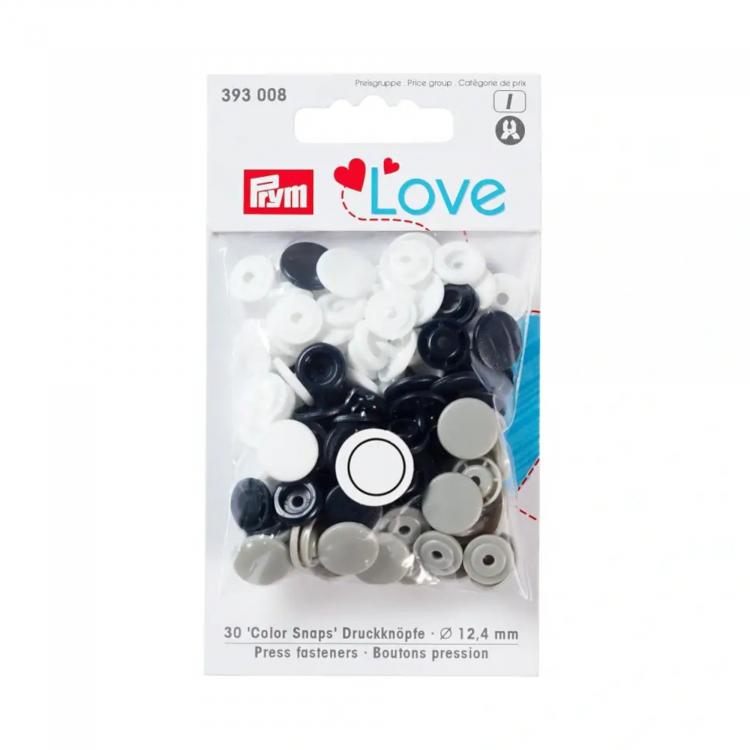 Prym Love pression button Color KST 12,4mm navy/grey/white | Fabrics