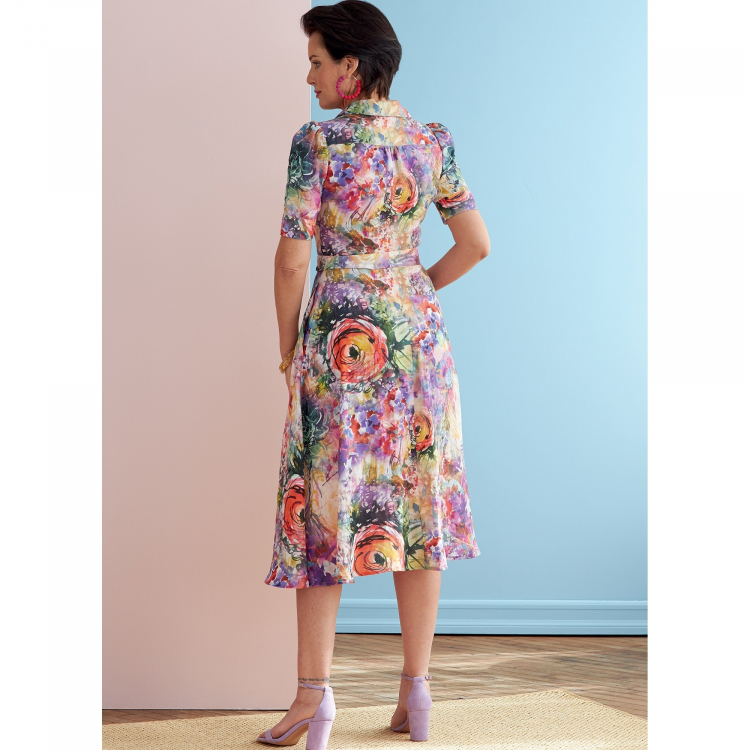 Patron De Couture Butterick 6726 Robe Taille 42 50 Tissus Hemmers