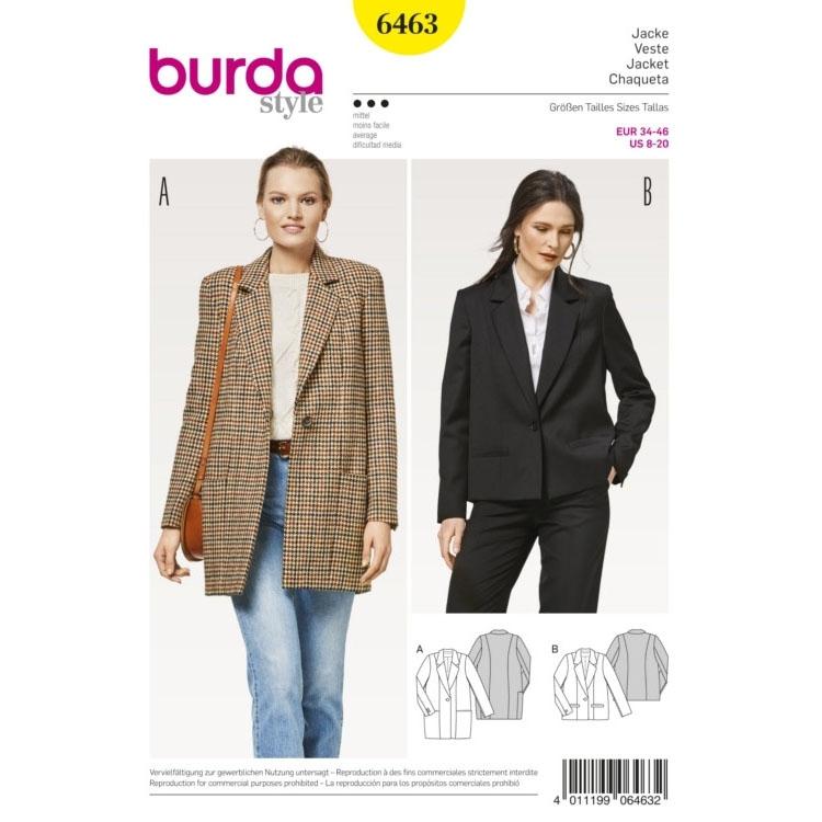 Sewing pattern coat and jacket, Burda 6463 | Fabrics Hemmers