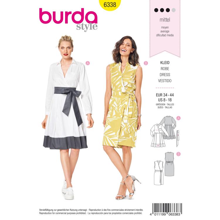 Patron de couture Robe, Burda 6338