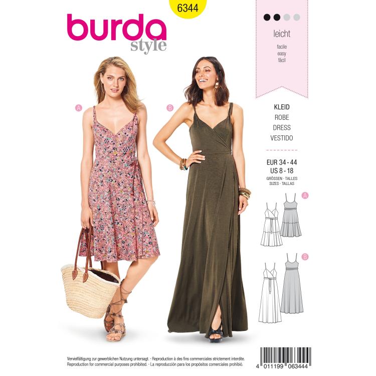 Patron de couture robe, Burda 6344
