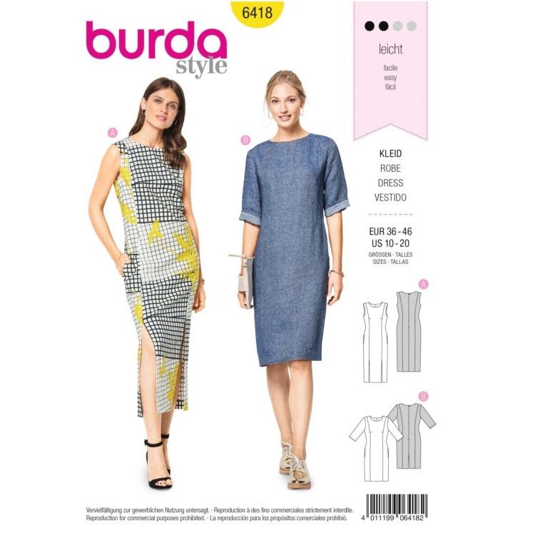 Schnittmuster Kleid, Burda 6418 | Stoffe Hemmers