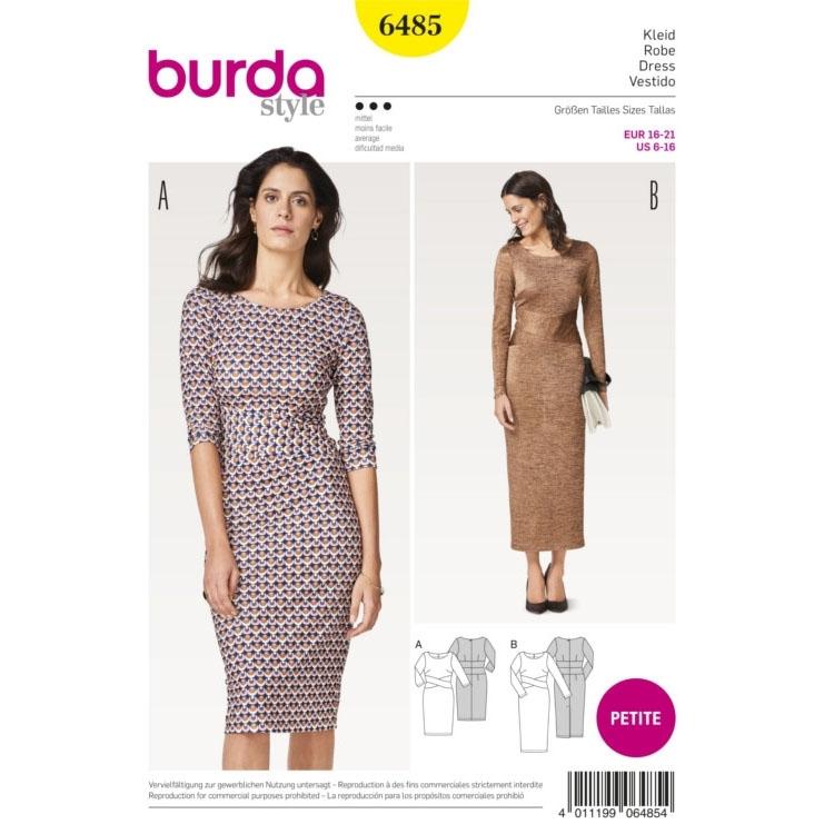 Schnittmuster Kleid, Burda 6485 | Stoffe Hemmers