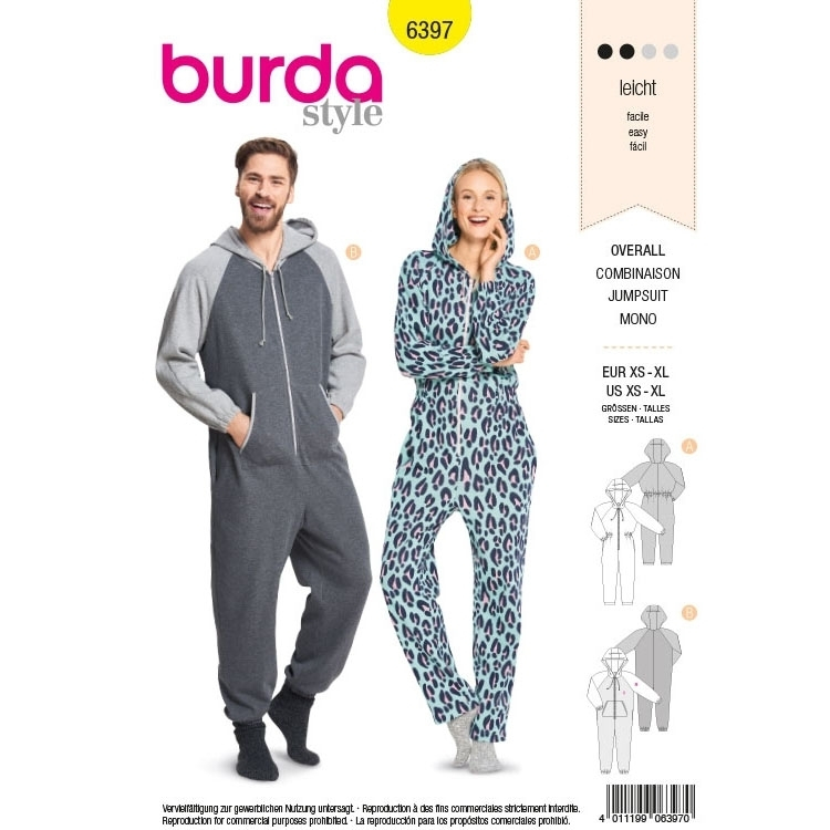 Sewing pattern Burda 6397, jumpsuit | Fabrics Hemmers