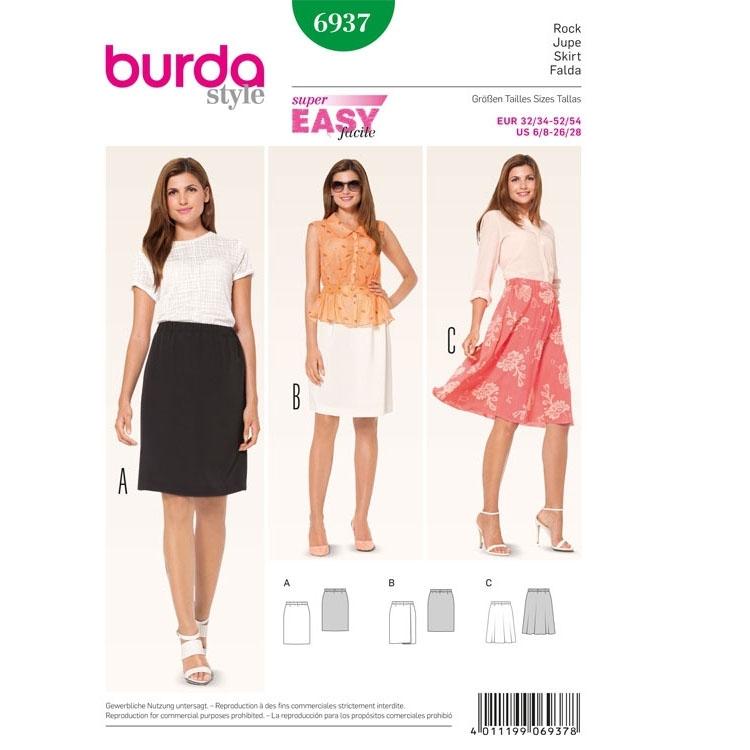 Sewing pattern Skirt, Burda 6937 | Fabrics Hemmers