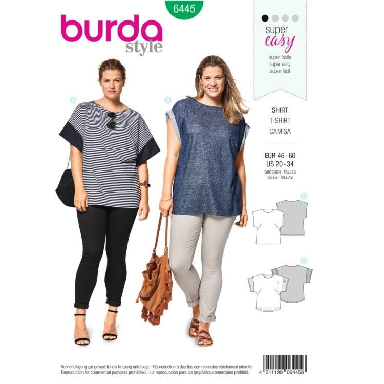 Schnittmuster Shirt, Burda 6445 | Stoffe Hemmers