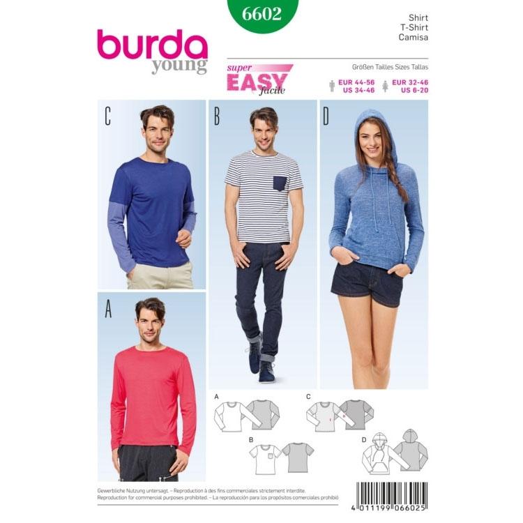 Schnittmuster Shirt, Burda 6602 | Stoffe Hemmers