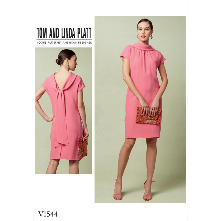 Sewing pattern Vogue 1544, designer dress | Fabrics Hemmers